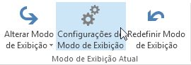 Comando Configurações do Modo de Exibição na faixa de opções