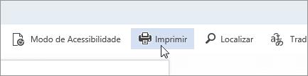Uma captura de tela do botão Imprimir