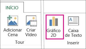 Botão Gráfico 2D na guia Página Inicial do Power Map