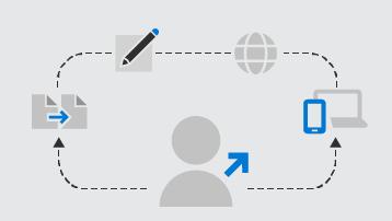 Elemento gráfico conceitual de opções de treinamento do GSuite