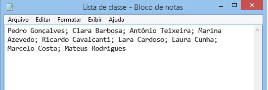 bloco de notas