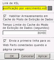 Link do arquivo XSL colado