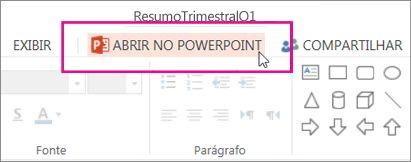 Abrir no PowerPoint da área de trabalho