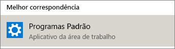 Programas padrão no Windows
