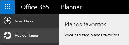 No Planner, escolha Novo plano.