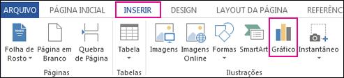 Botão Gráfico no grupo Ilustrações da guia Inserir no Word