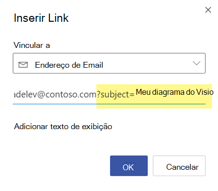 Você pode anexar uma linha de assunto após o endereço de email.