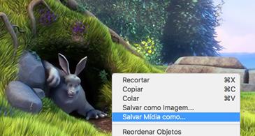 Slide contendo uma imagem e o comando Salvar como imagem selecionado no menu de atalho