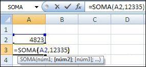 Usar a função SOMA para adicionar uma célula e um valor