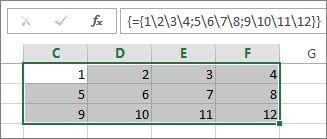 uma constante de matriz bidimensional