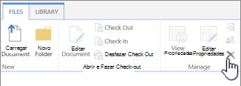 Excluir Documento na guia Arquivo