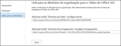 Diretrizes de vídeo do Office 365