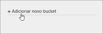 Adicionar novo bucket