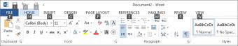 Pressione Alt ou F10 para ver as Dicas de Tecla na Faixa de Opções