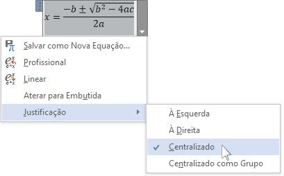 Controle de conteúdo da equação