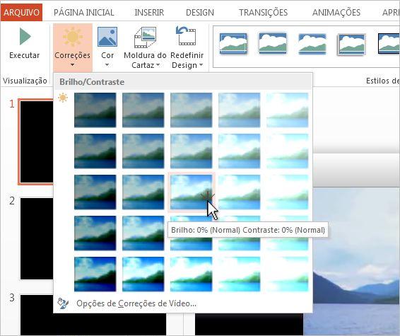 Ajustar o brilho e o contraste de um vídeo