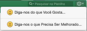 Captura de tela mostra o botão Comentários no Excel