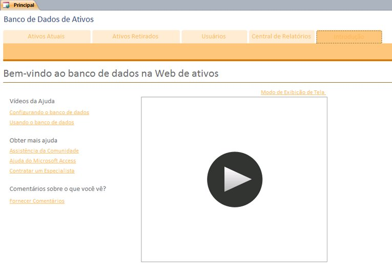 Banco de Dados da Web de Ativos