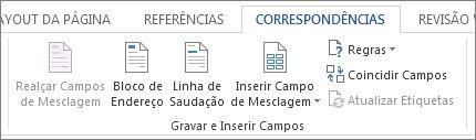 Grupo Gravar e Inserir Campos