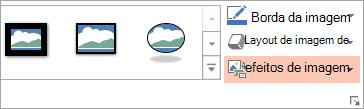 Mostra o botão Layout de imagem na guia Formatar