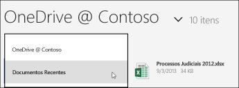 SkyDrive Pro view menu