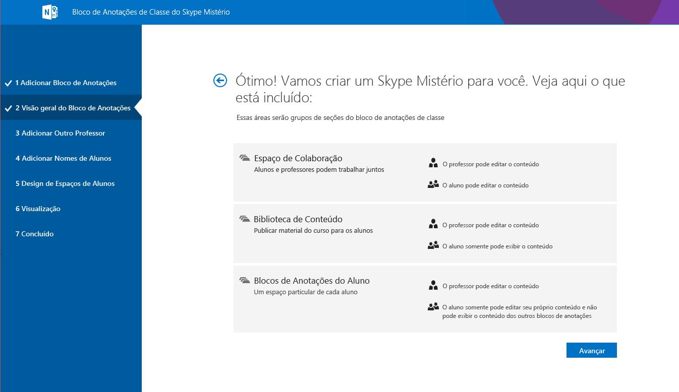 Visão geral do Mystery Skype