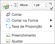 Menu Cortar do PPT para Mac