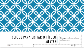 Layout de slide de título integral no PowerPoint