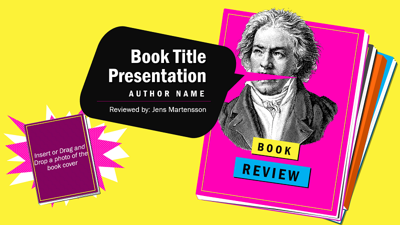 ilustração da capa do modelo de relatório de livro