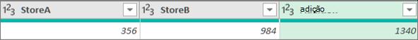 Adicionar uma coluna para adicionar dois números de duas colunas
