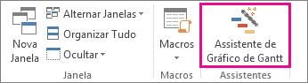 Clique no Assistente de Gráfico de Gantt para obter ajuda na criação de seu novo gráfico.