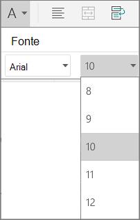 Configurações da lista de mensagens