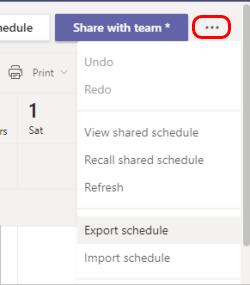 Item de menu exportar cronograma