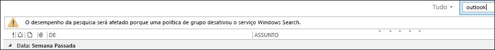 Windows Desktop Search Desabilitado