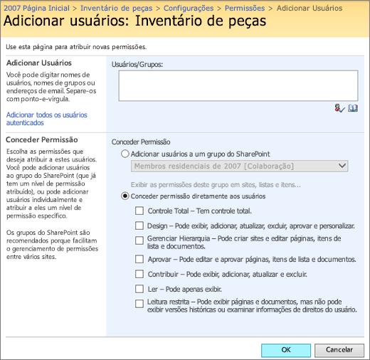 Adicionar caixa de diálogo do usuário