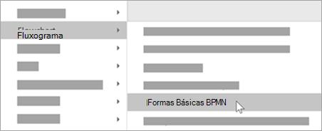 Adicione formas básicas BPMN às formas.