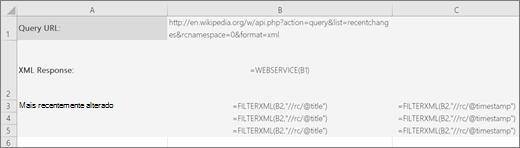 Um exemplo da função FILTROXML