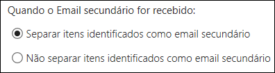 Email secundário do Outlook na Web