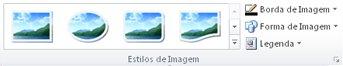 Grupo de Estilos de Imagem da guia Ferramentas de Imagem no Publisher 2010