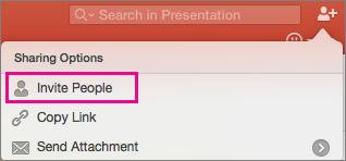 Compartilhar do PPT para Mac