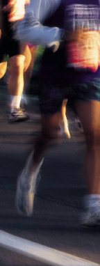corredores em competição