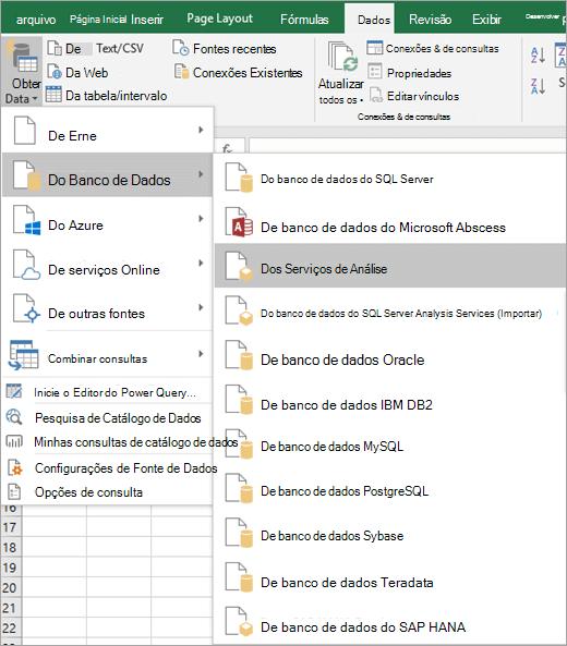 Selecione do Analysis Services