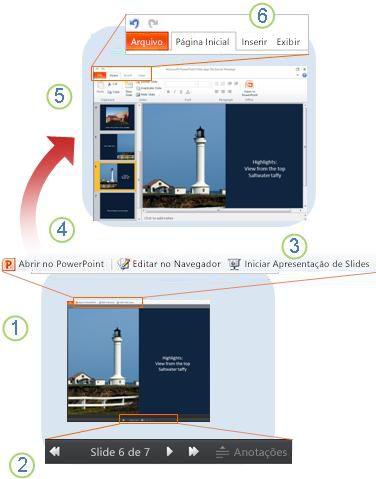 PowerPoint Web App num relance