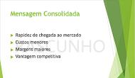 """Exemplo de uma marca-d'água de texto, """"RASCUNHO"""", usada como tela de fundo de um slide do PowerPoint"""