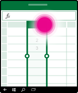 Arte mostrando a seleção ou a edição de uma coluna