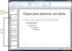 mostrar o número do slide e o número total de slides em todos os