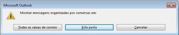 Caixa de diálogo para alterar quais pastas usam Conversas