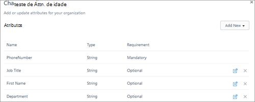 Captura de tela: Atributos de alteração no Kaizala usuários, como o nome, o número e o cargo de telefone.