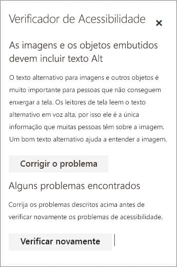 Verifique um email em busca de problemas de acessibilidade no Outlook na Web.