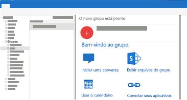 Exibir e ler ou responder a conversas em grupo no Outlook para Mac